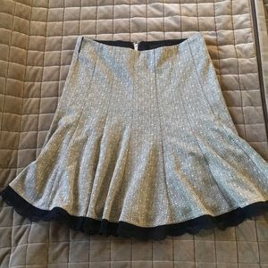 Maurices Pleated Skirt with Lace Trim